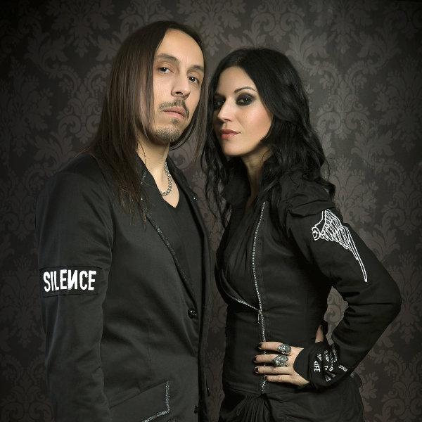 Photo promo Andrea Ferro et Cristina Scabbia (LACUNA COIL)