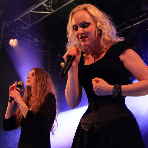Kari Rueslåtten and Liv Kristine with The Sirens on stage in Paris, the 20th of december, 2014