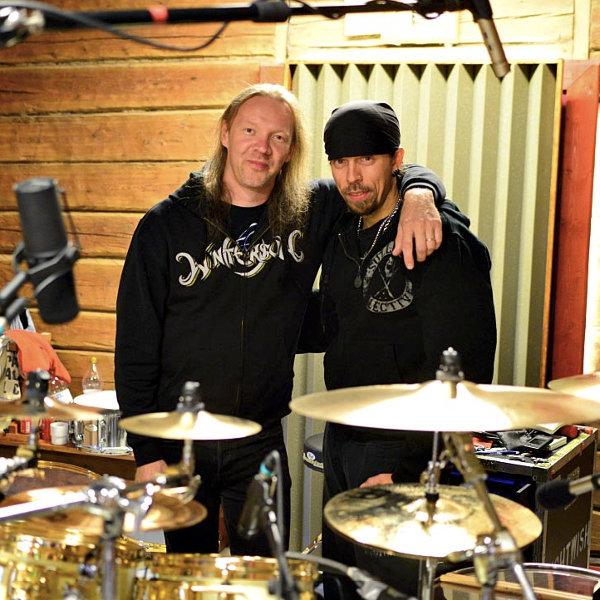 Kai Hahto et Jukka en studio