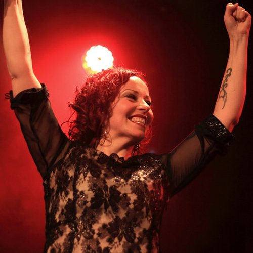 Anneke, concert de The Sirens à Paris, le 20 décembre 2014