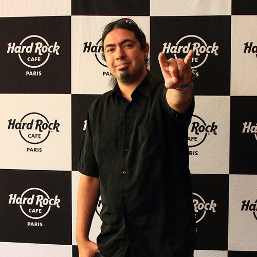 Pierre Le Pape à l'occasion de notre interview au Hard Rock Café à Paris, le 28 septembre 2015