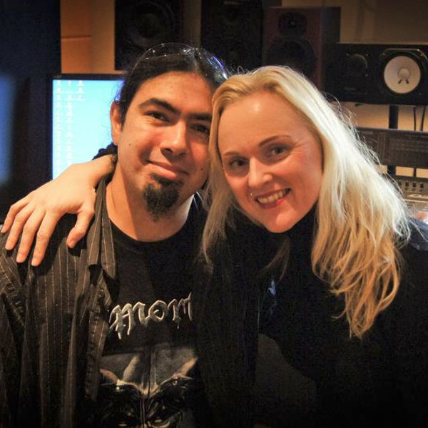 Pierre Le Pape et LivKristine au studio Mastersound Entertainment