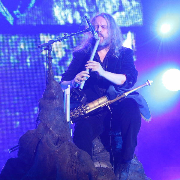 Troy Donockley on stage at La Halle Tony Garnier, in Lyon, the 23rd of november, 2015