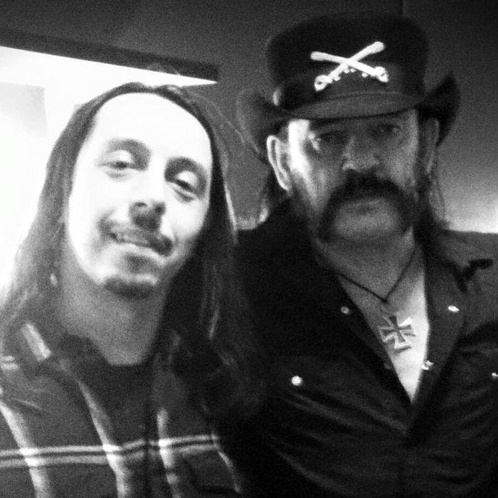 Photo d'Andrea de Lacuna Coil avec Lemmy de Motorhead