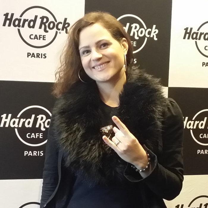 Constance Amelane lors de notre interview au Hard Rock Café à Paris, le 7 novembre 2017