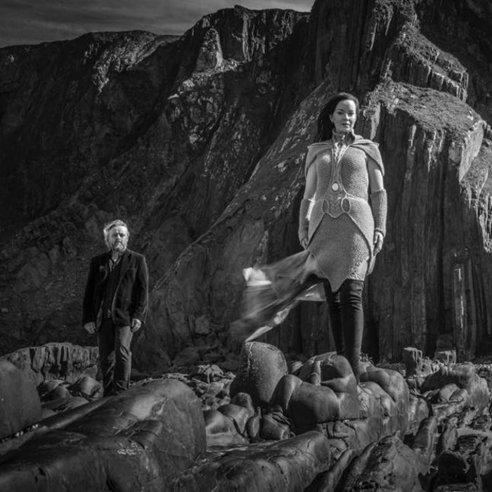 Promo pic for Auri near cliffs in Cornwall