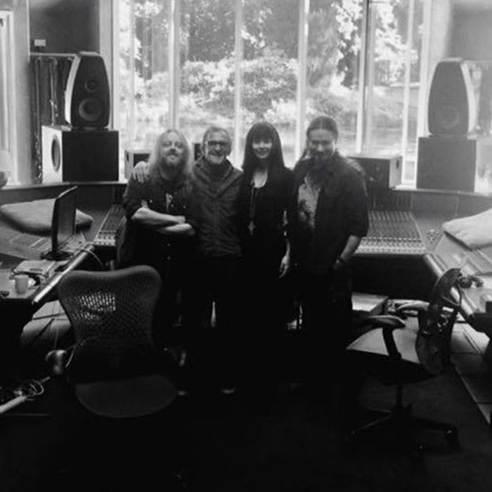 Tuomas, Johanna, Troy and Tim Oliver in studio for Auri